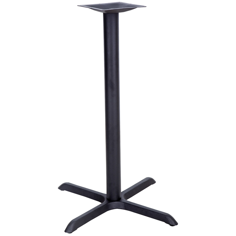 Black Stamped Steel Bar Height Cross Table Base