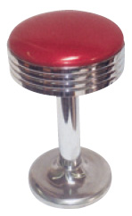 "31"" Ground Mount Swivel Chrome Bar Stool"