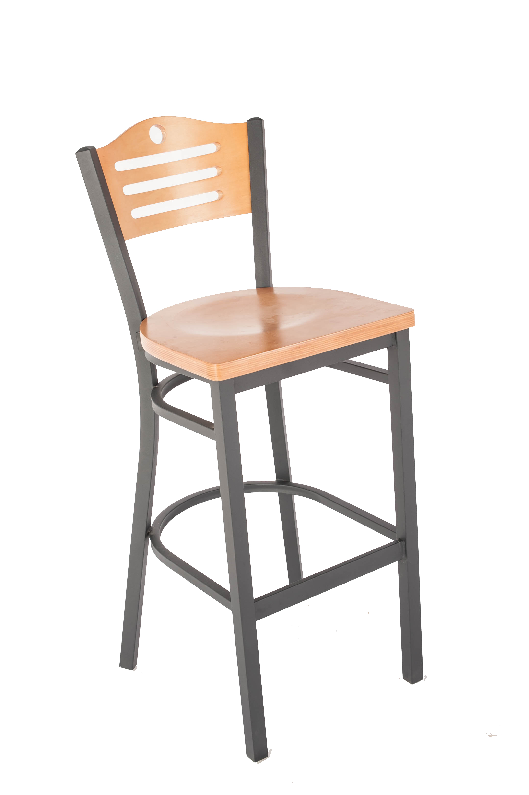 Eagle Wood Back Metal Bar Stools