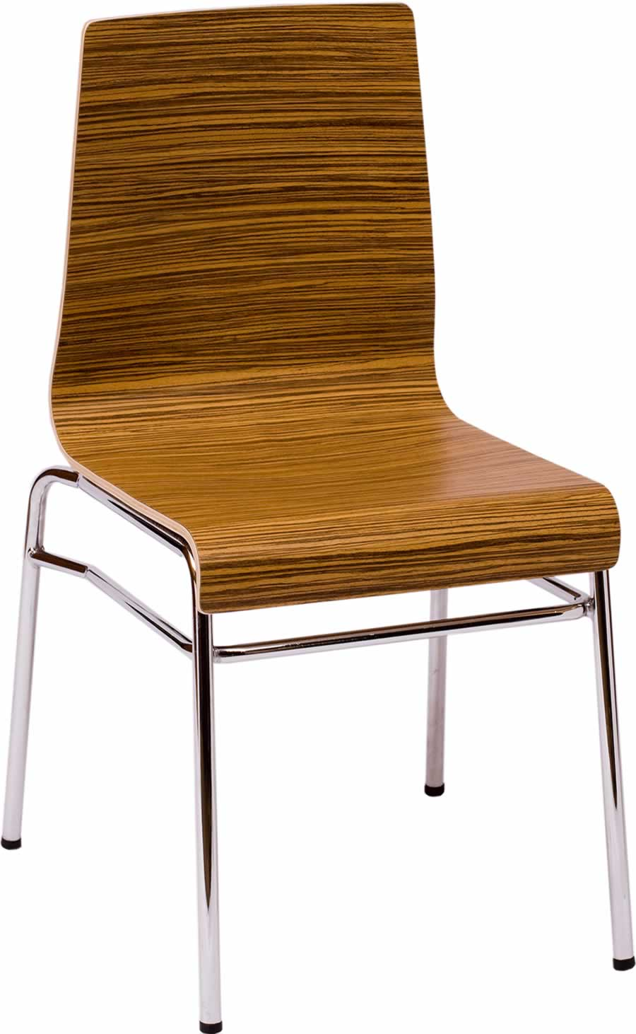 Abby Chair with Zebrano Laminate Finish