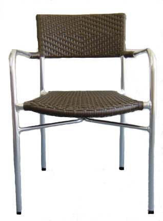 Aluminum Rattan Romeo Arm Chair