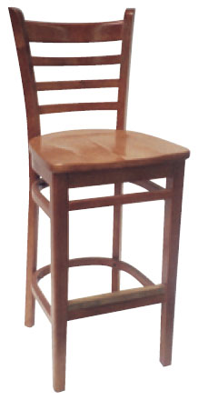 Asian Beech Ladder Back Stool