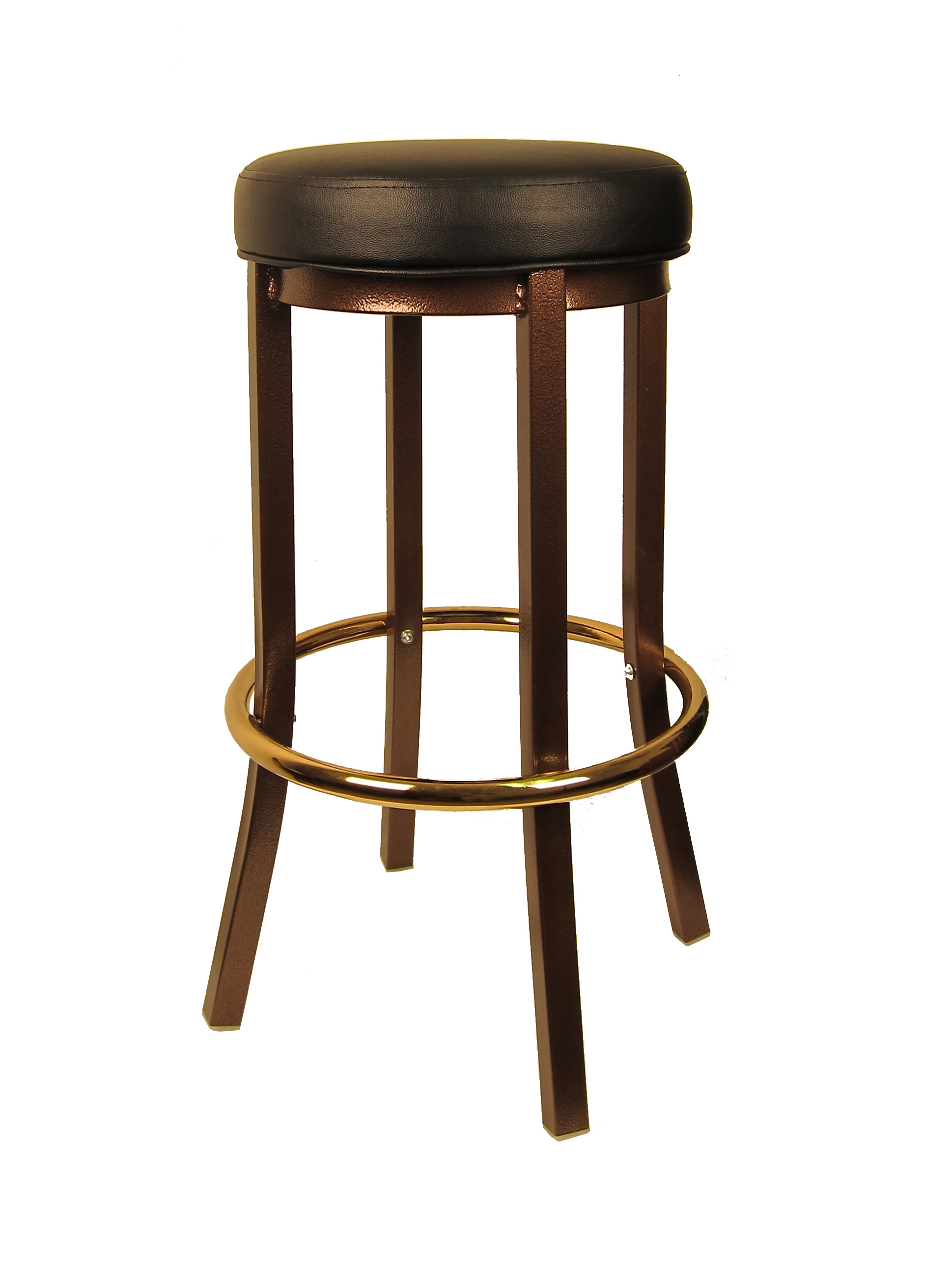 Backless Coppervein Metal Bar Stool