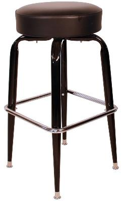 Button Top Bucket Frame Swivel Barstool