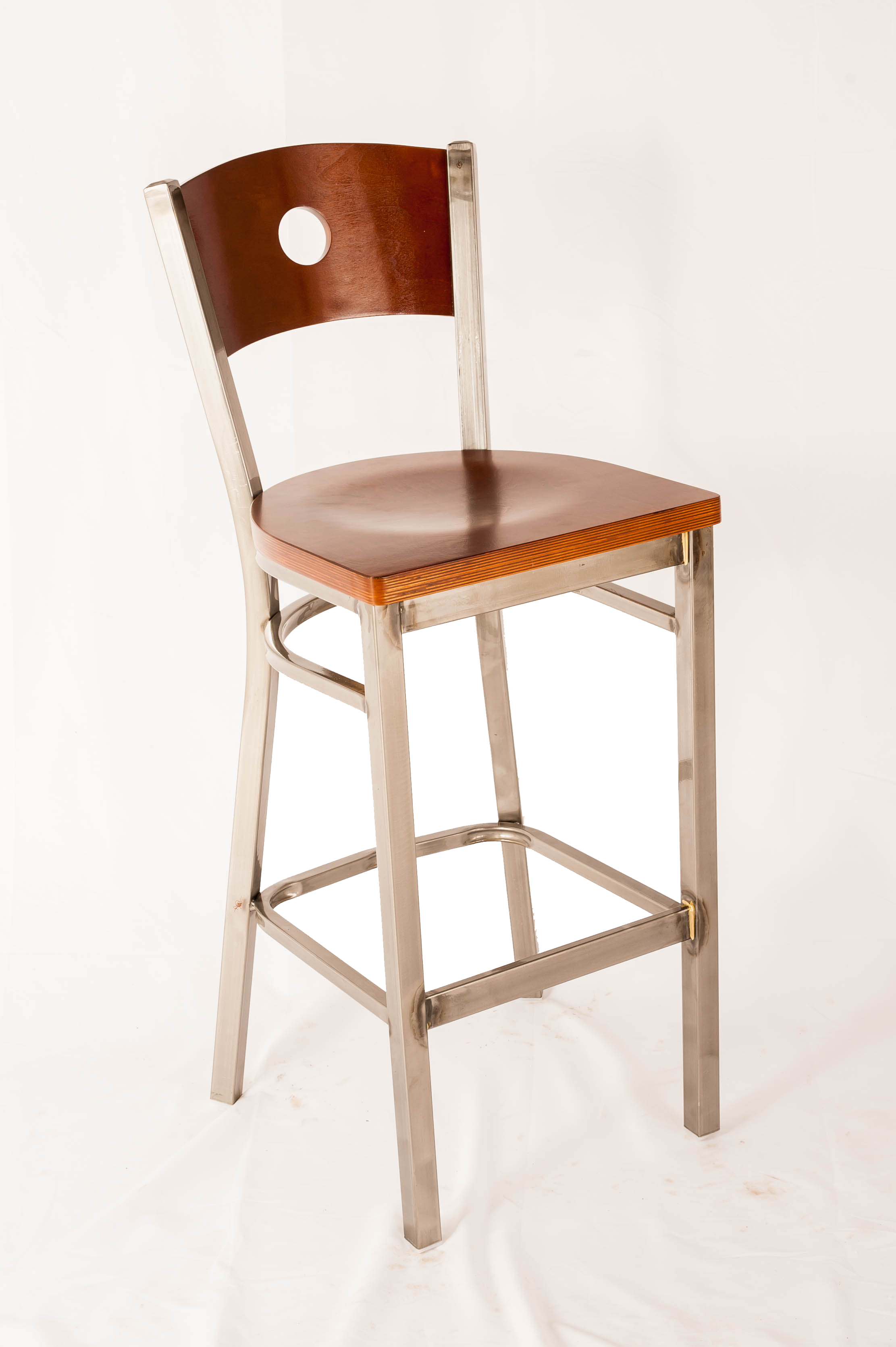 Circle Back Clearcoat Barstool