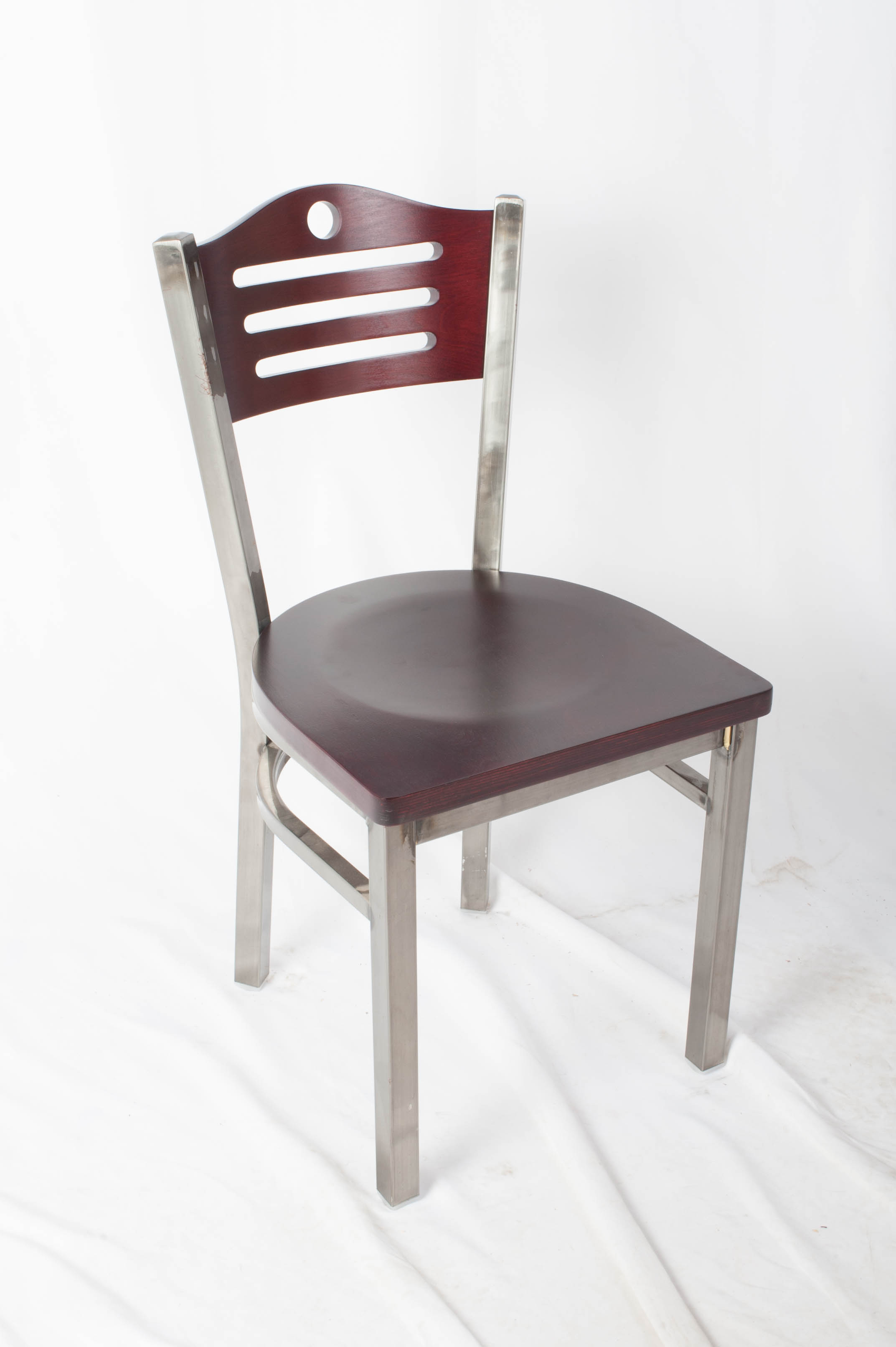 Eagle Wood Back Side Chair in Clear Coat