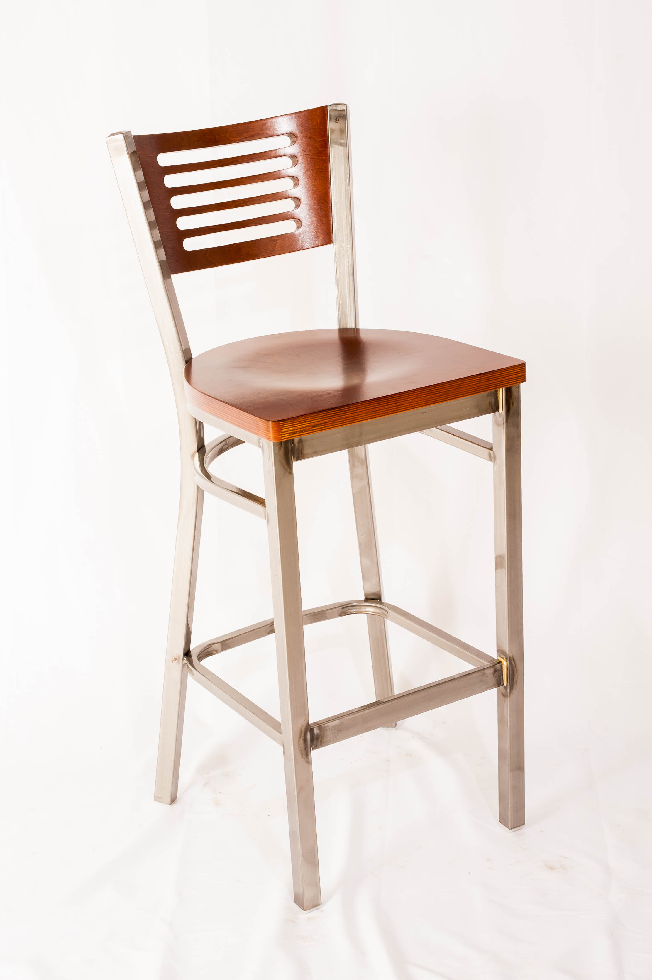 Five Line Back Clearcoat  Barstool
