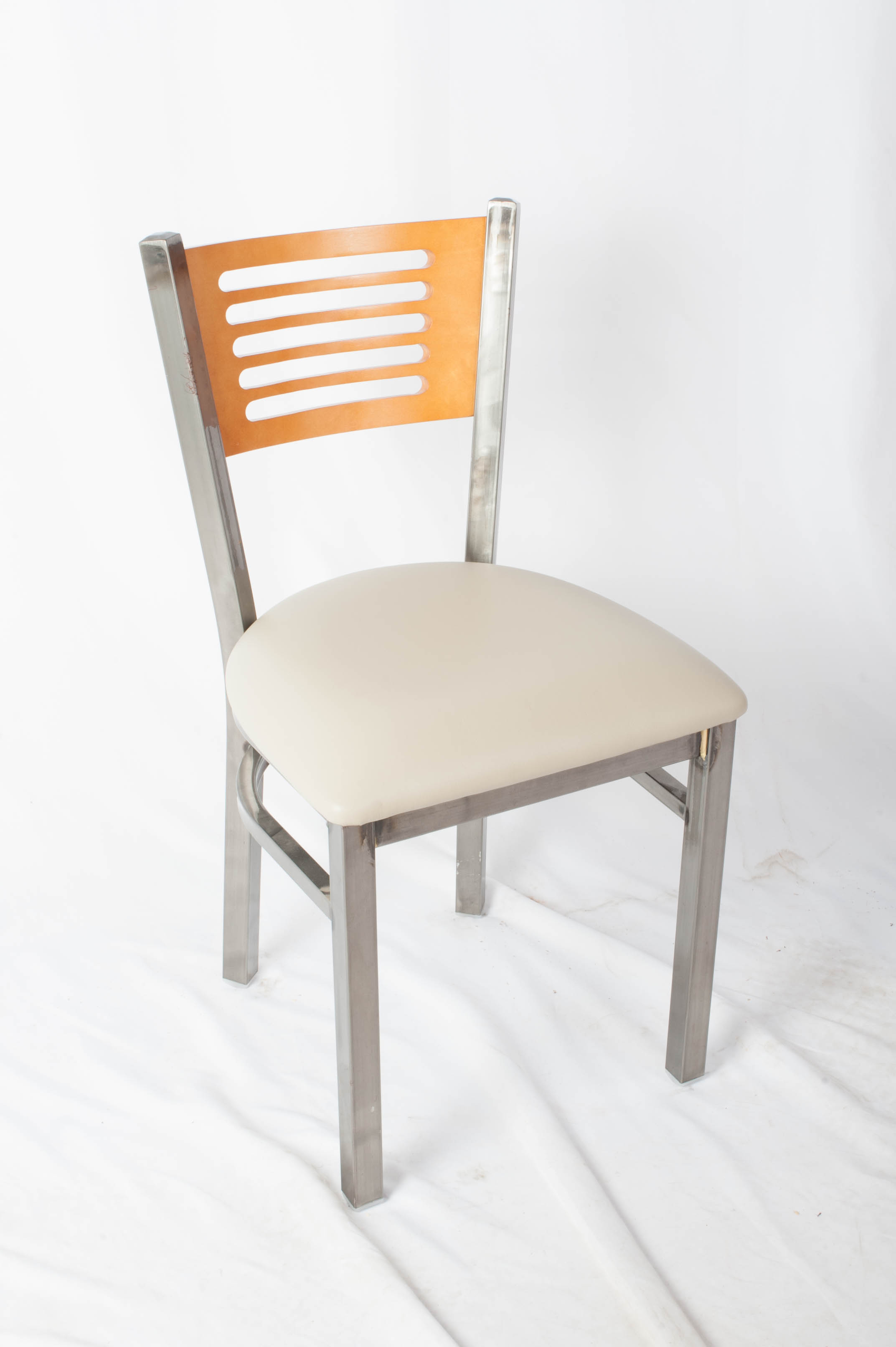 Five Line Back Clearcoat  Side Chair