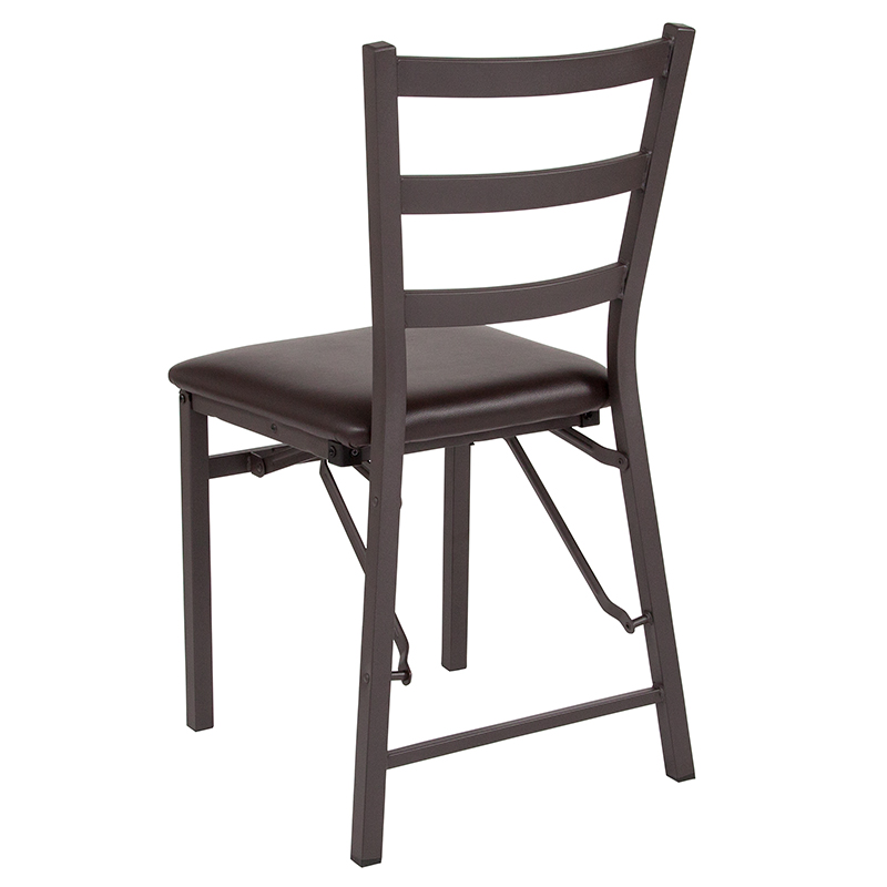 Folding Ladder Back Metal Chair
