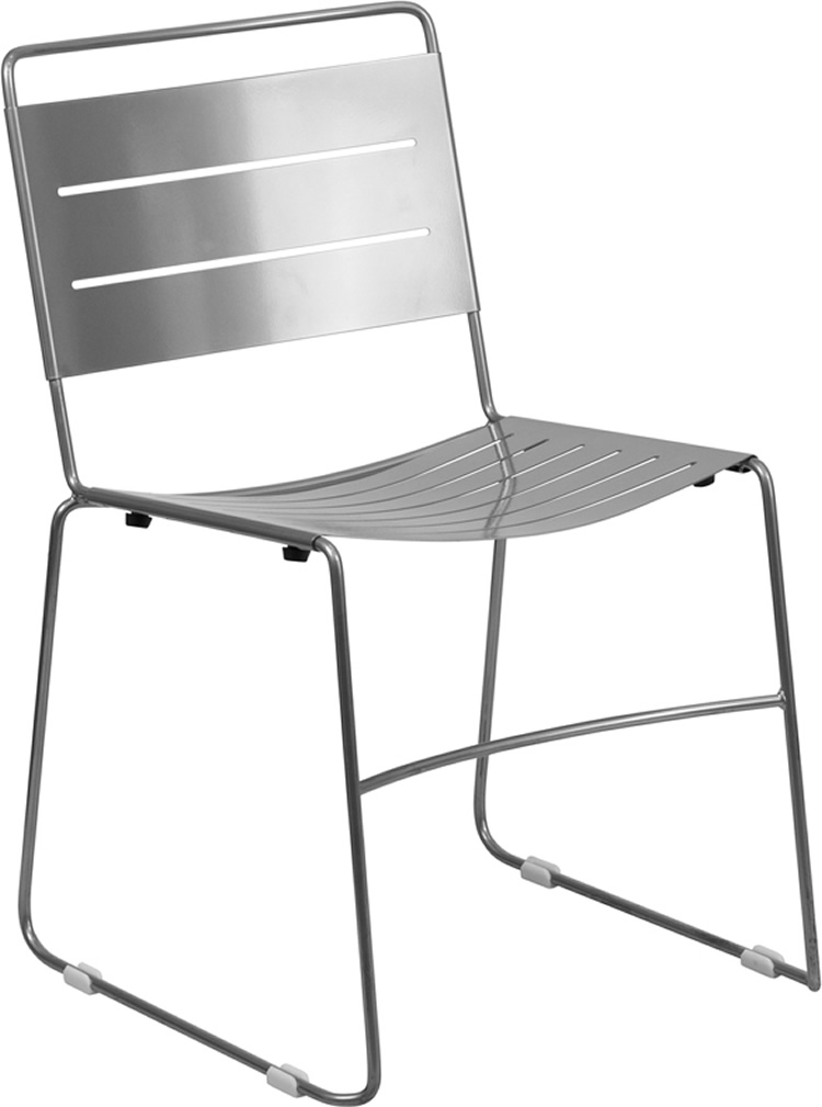 Hercules Series Indoor-Outdoor Metal Stack Chair