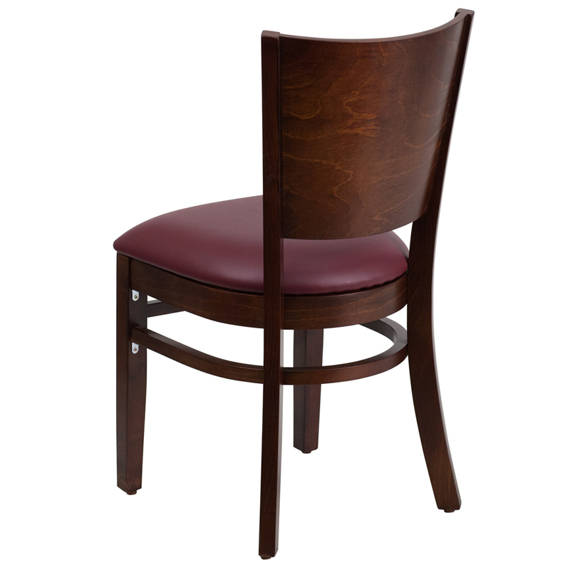 Lacey Solid Back Wood Chair