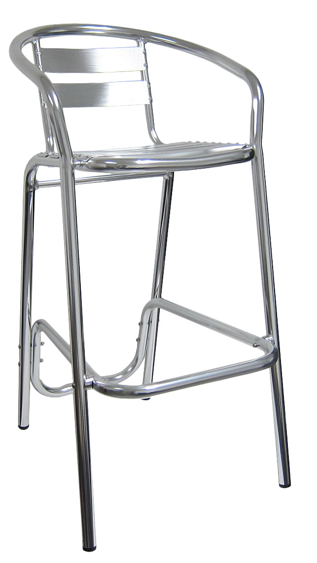 Ladder Back Aluminum Bar Stool