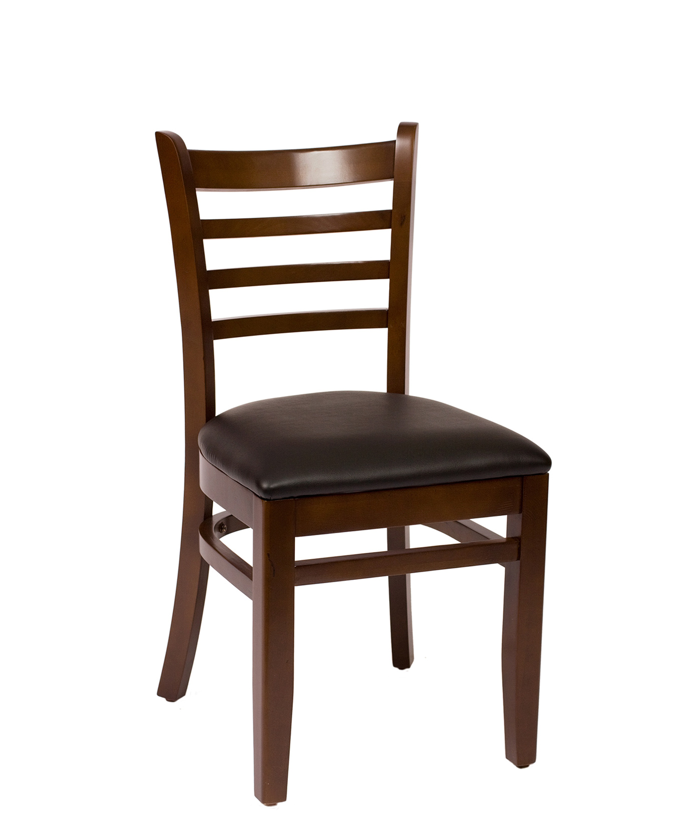 Ladder Back Wood Side Chair