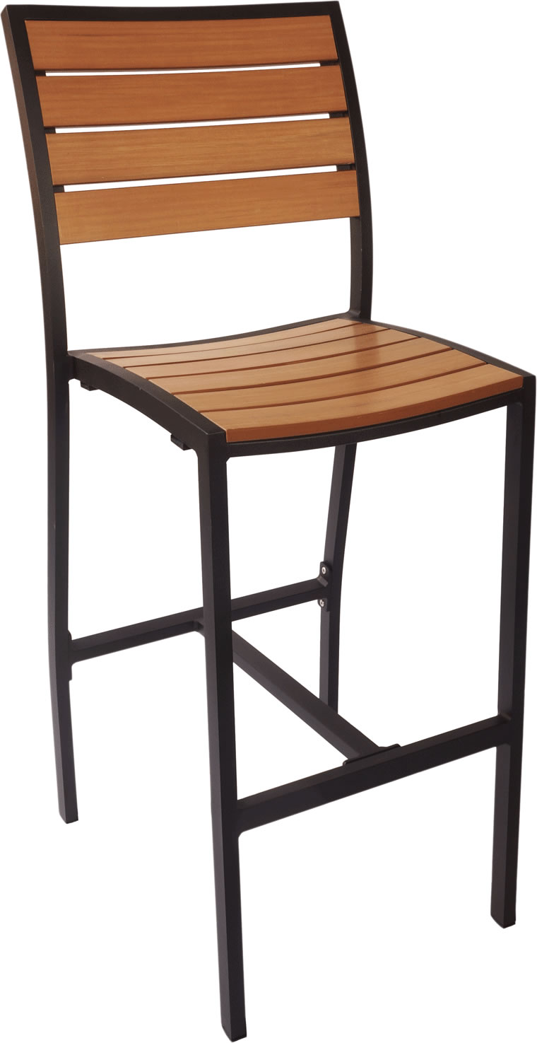 Largo Synthetic Teak Armless Bar Stool