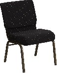 Gold Vein Frame 21 Inch Wide Church Chair Picture 1
