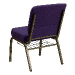 Gold Vein Frame 21 Inch Wide Church Chair with Small Basket Picture 3