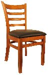Hardwood Ladder Back Wood Chair Picture 1