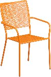 Indoor-Outdoor Colored Steel Patio Arm Chair with Square Back Picture 3