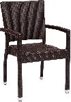 Monterey Java Wicker Arm Chair Picture 1