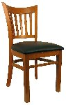 Open Vertical Back Wood Chair Picture 1