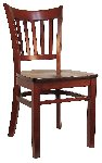 Open Vertical Back Wood Chair Picture 2