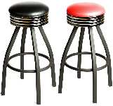 Retro Top Tapered Frame Swivel Barstool Picture 1
