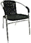 Wicker Aluminum Arm Chair Picture 1