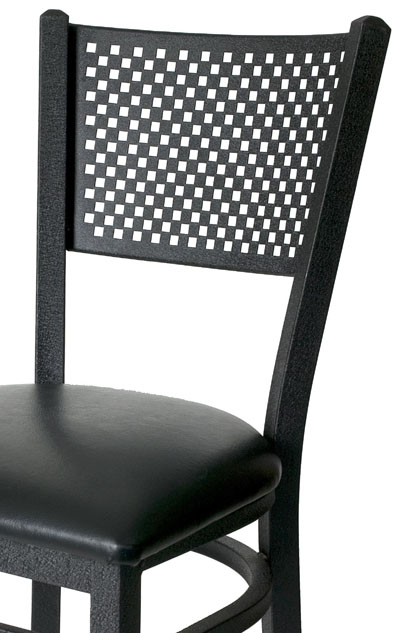 Mesh Back Metal Frame Side Chair