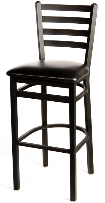 Metal Frame Ladderback Bar Stool