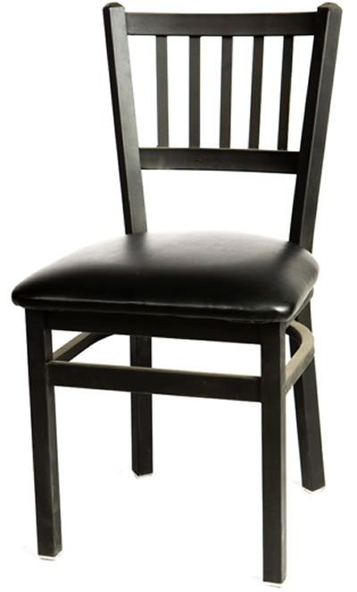 Metal Frame Vertical Back Side Chair