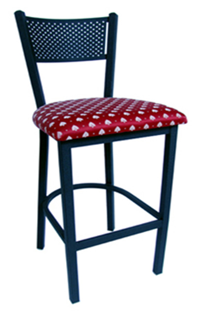 Metal Mesh Back Barstool - Black