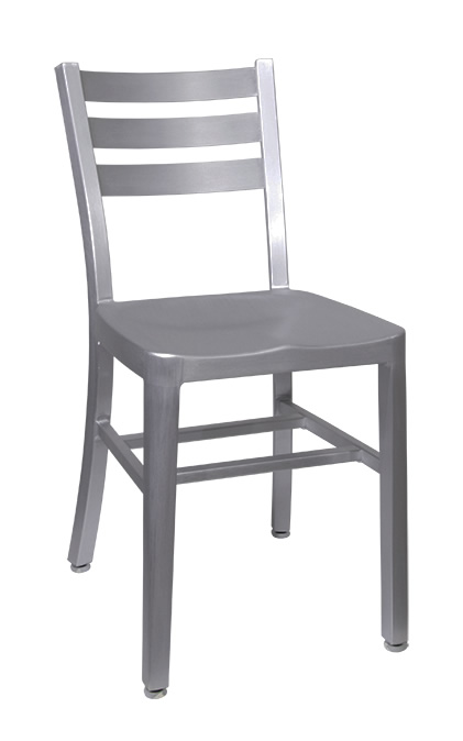 Navy Style Aluminum Ladder Back Side Chair