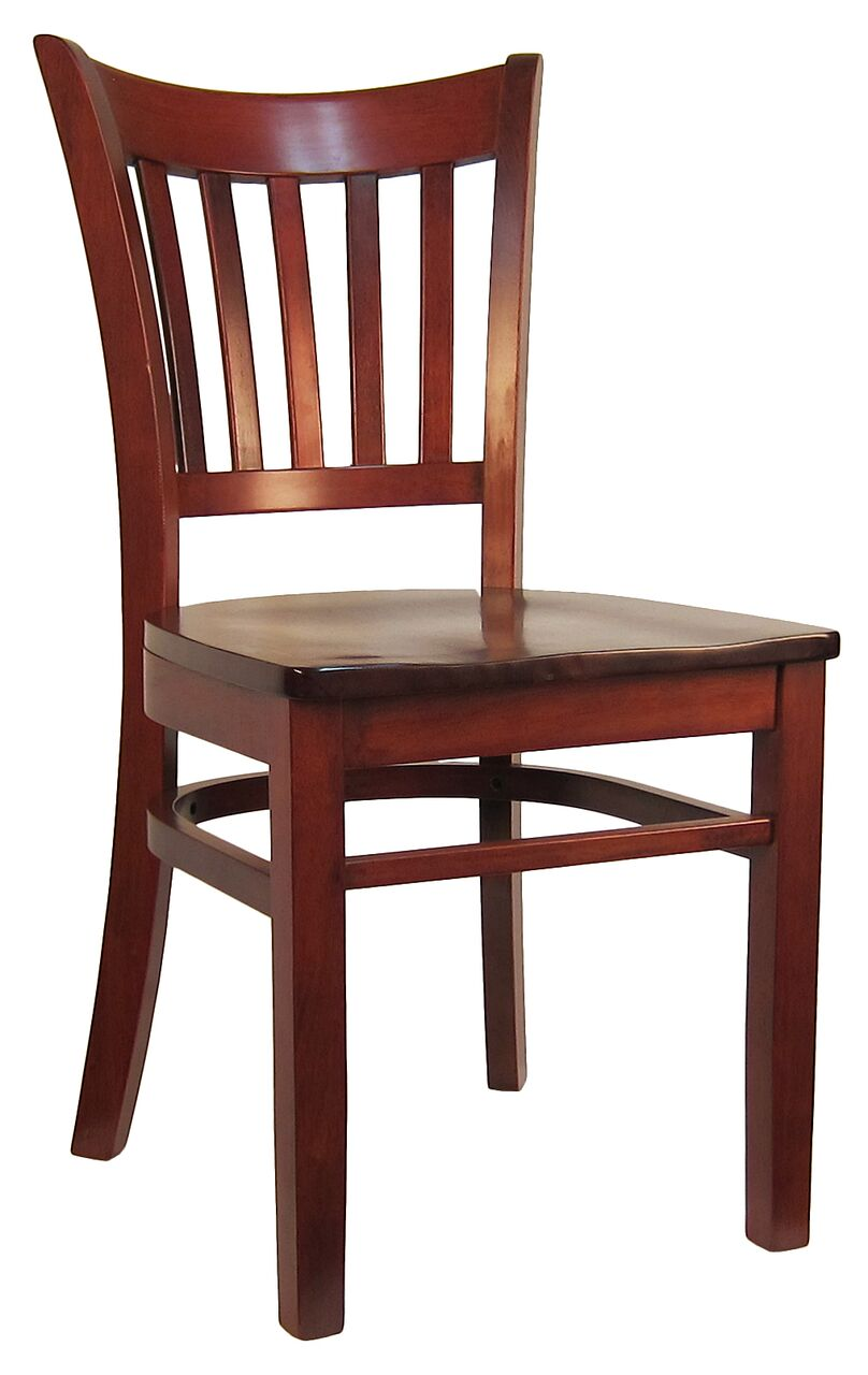 Open Vertical Back Wood Chair