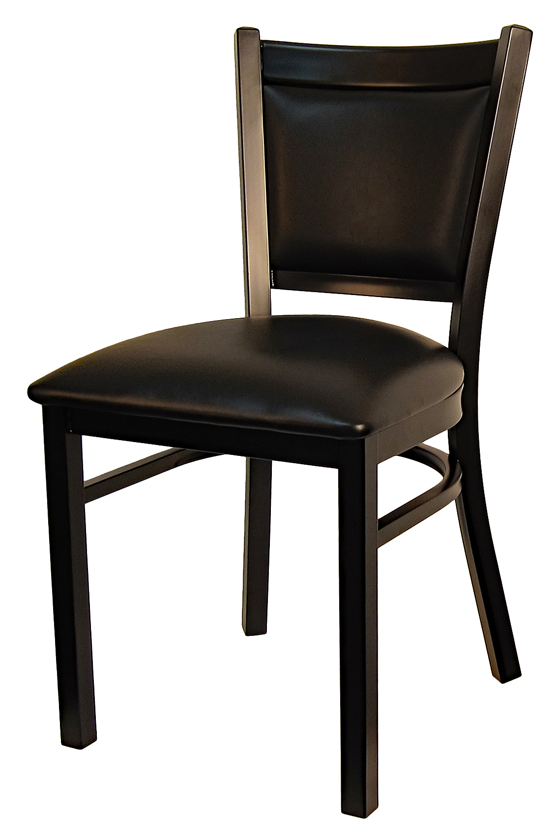 Padded Back Metal Frame Chair
