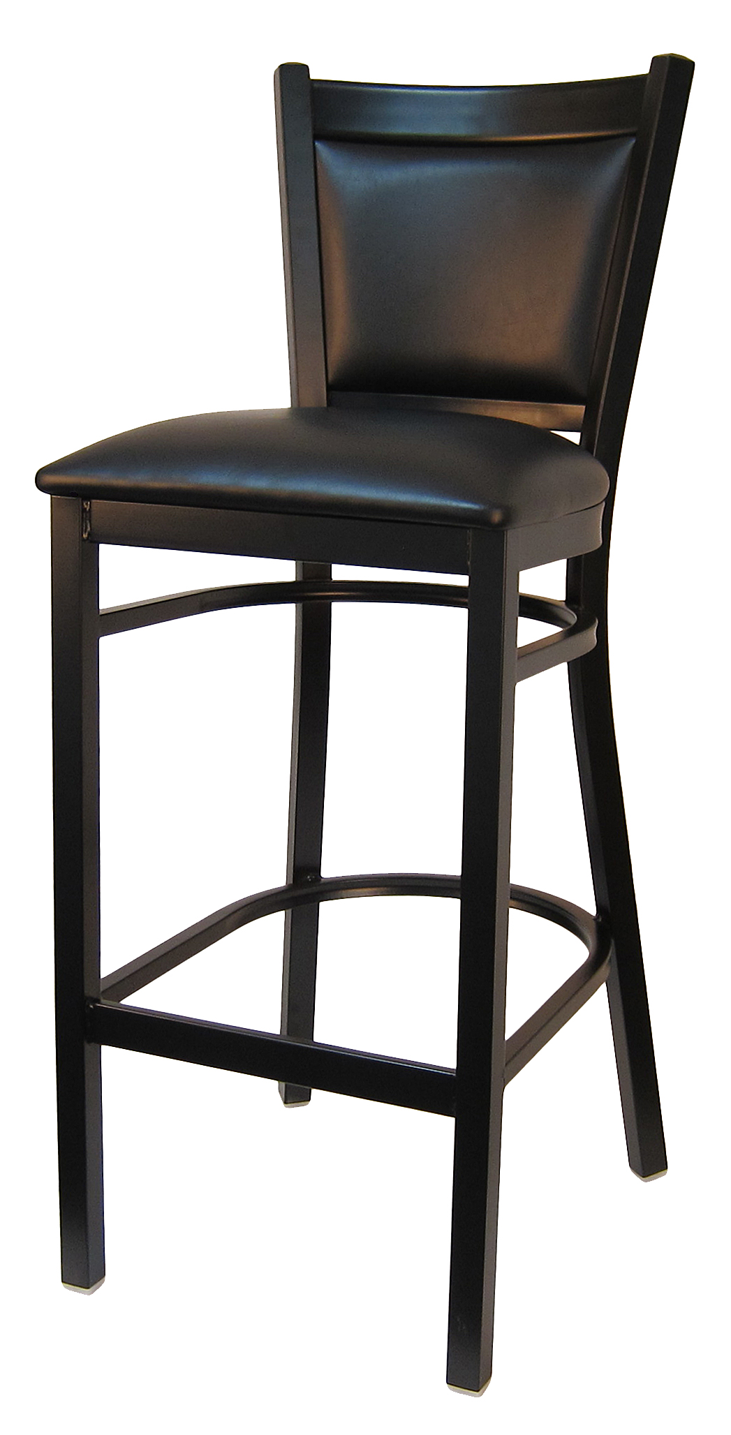 Padded Back Metal Frame Bar Stool