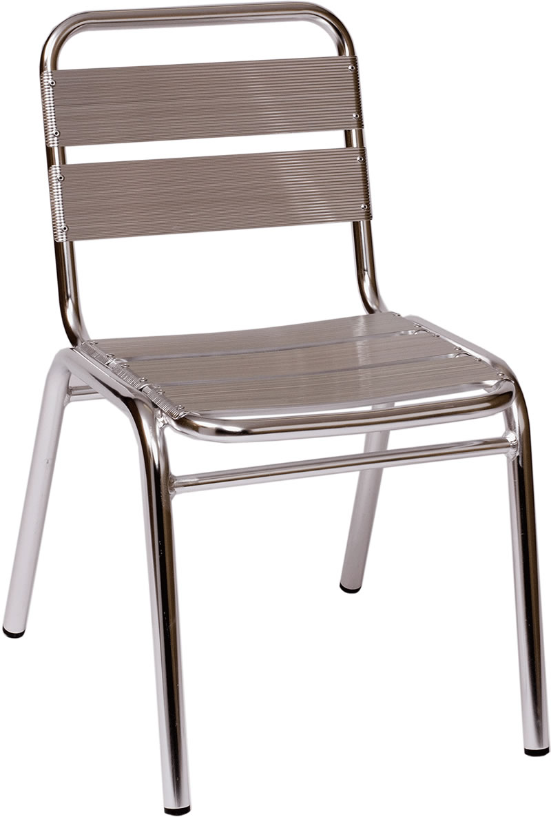 Parma Anodized Aluminum Stackable Side Chair