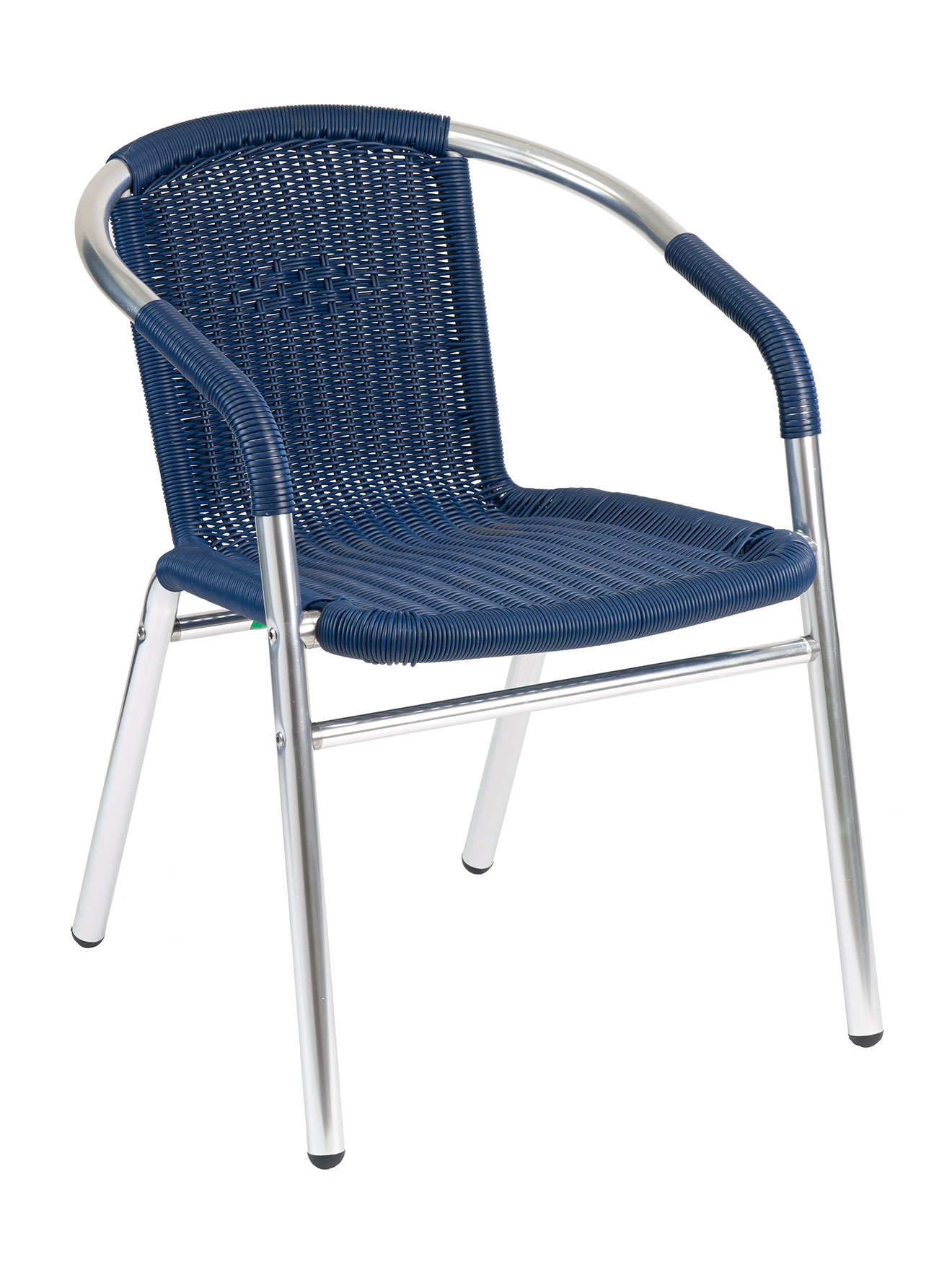 Round Frame Wicker Aluminum Chair