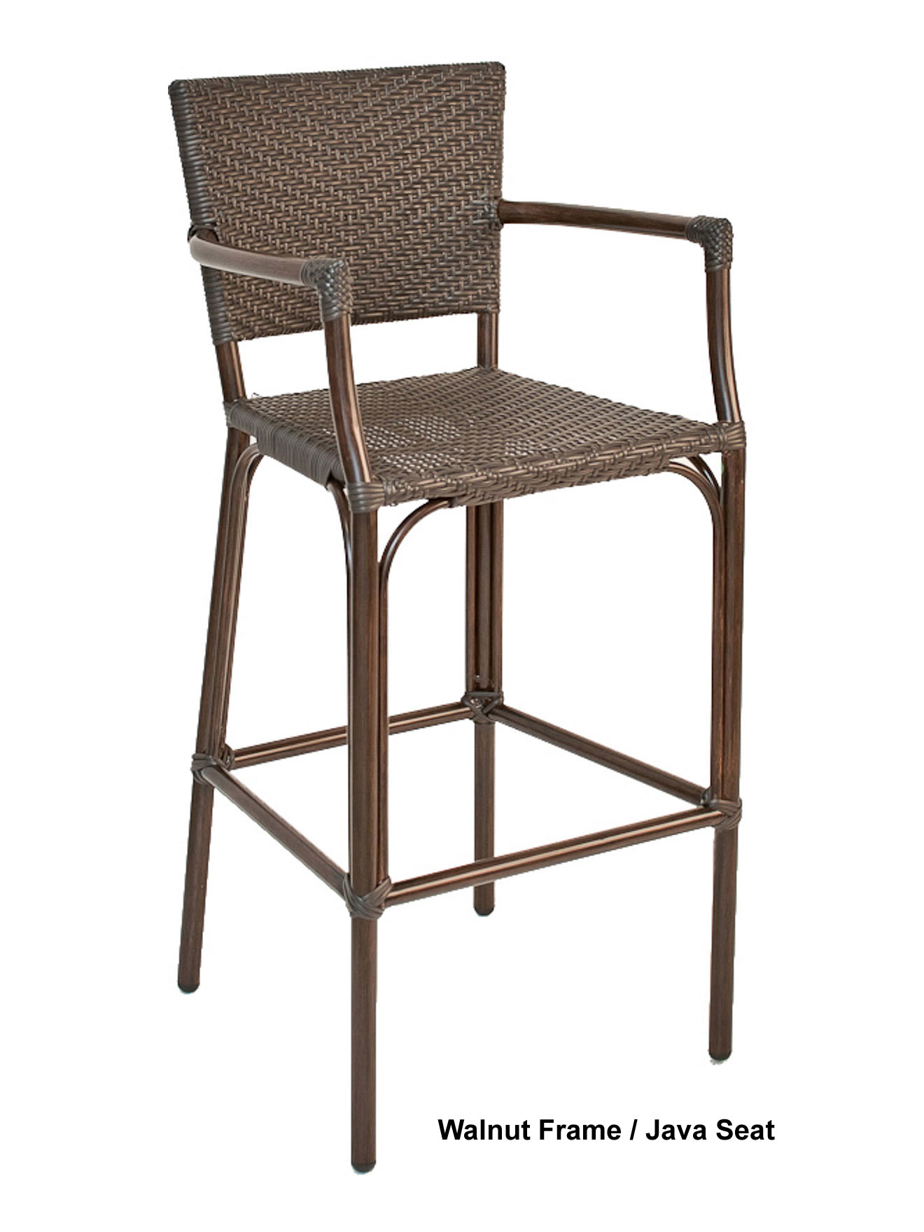 Safari Rattan Arm Bar Stool