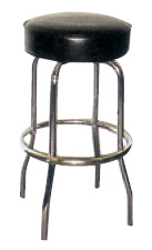 Single Ring Chrome Bar Stool