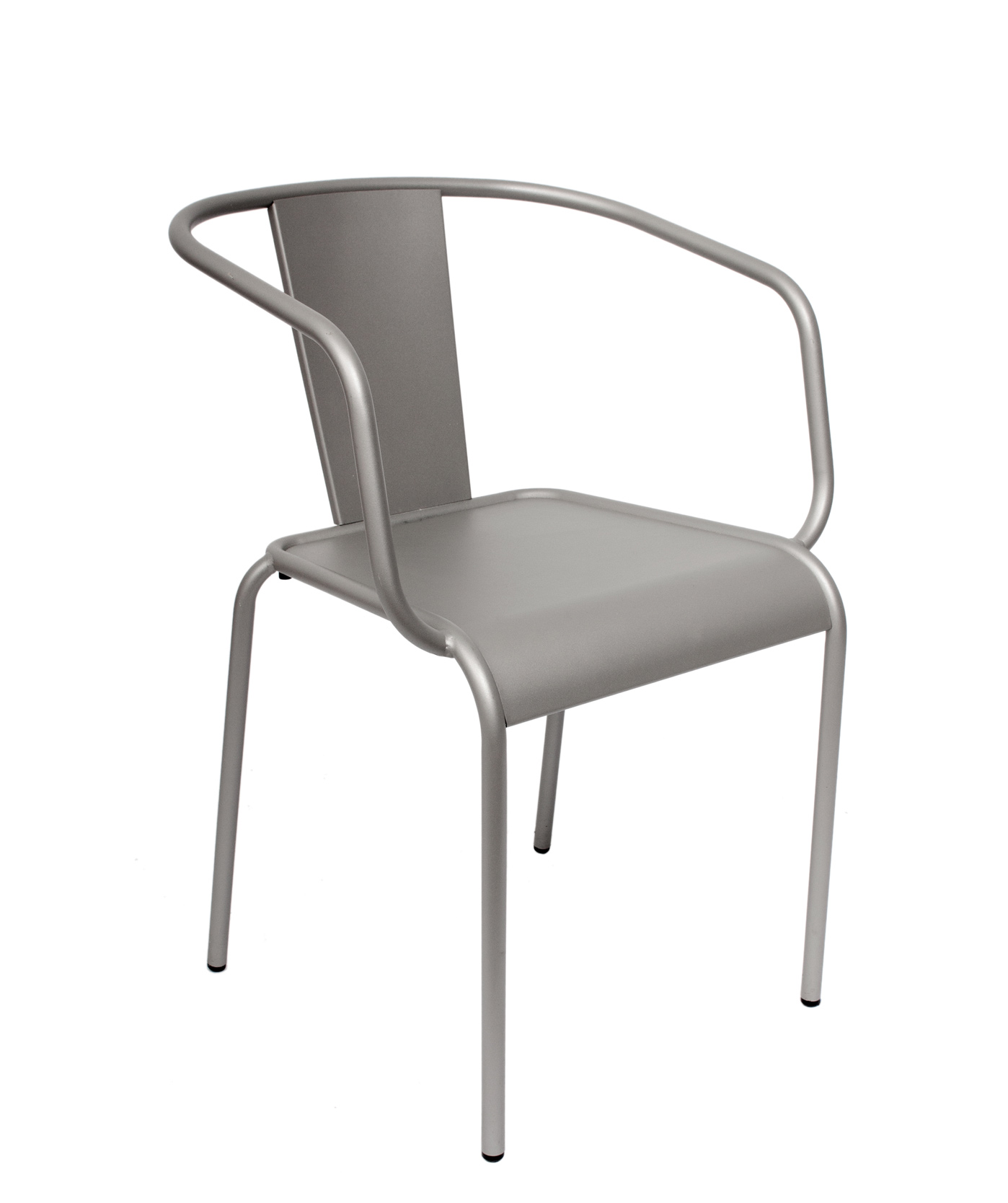 Tara Titanium Silver Steel Outdoor Arm Chair