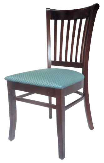 Vertical Slatted Open Side Chair