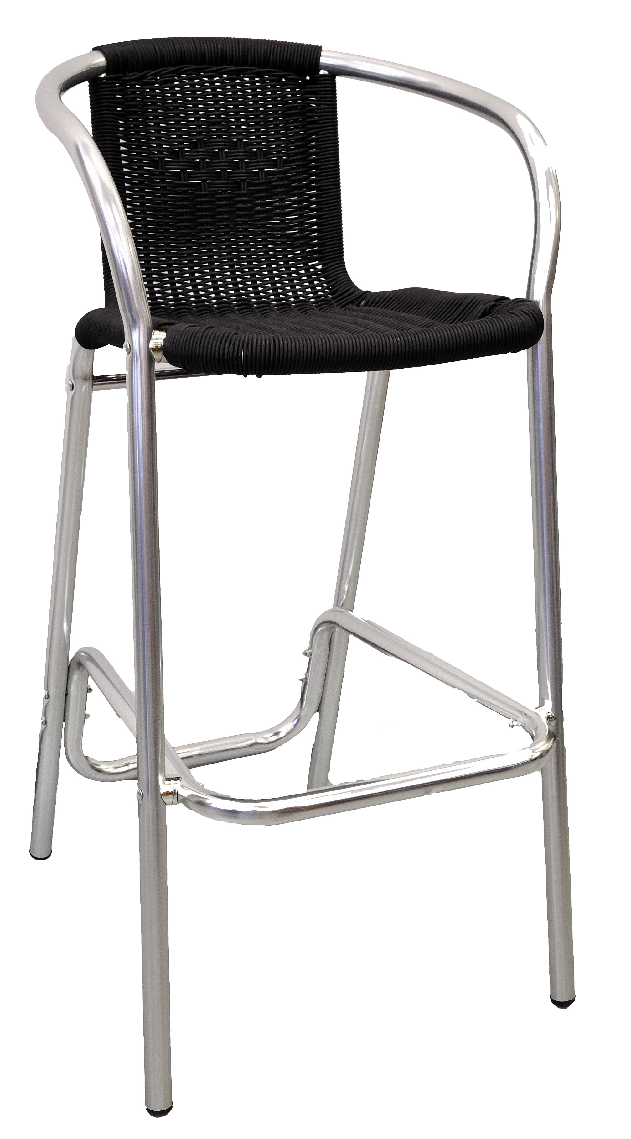 Wicker Aluminum Arm Bar Stool