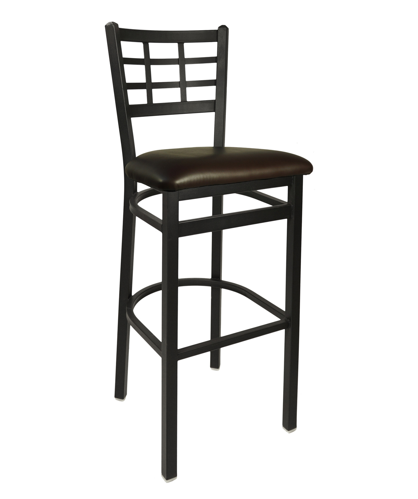 Window Pane Metal Frame Bar Stool