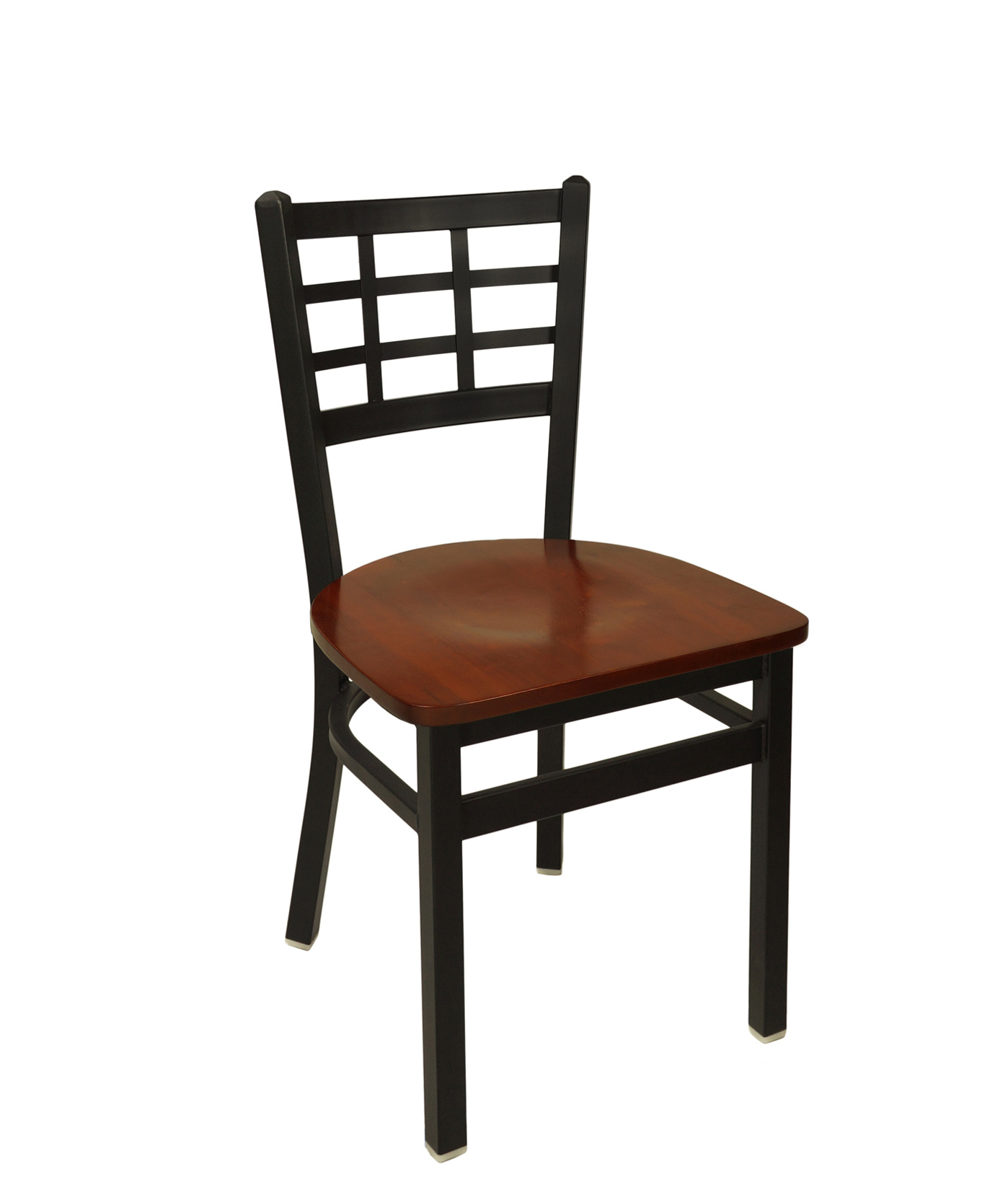 Window Pane Metal Frame Side Chair
