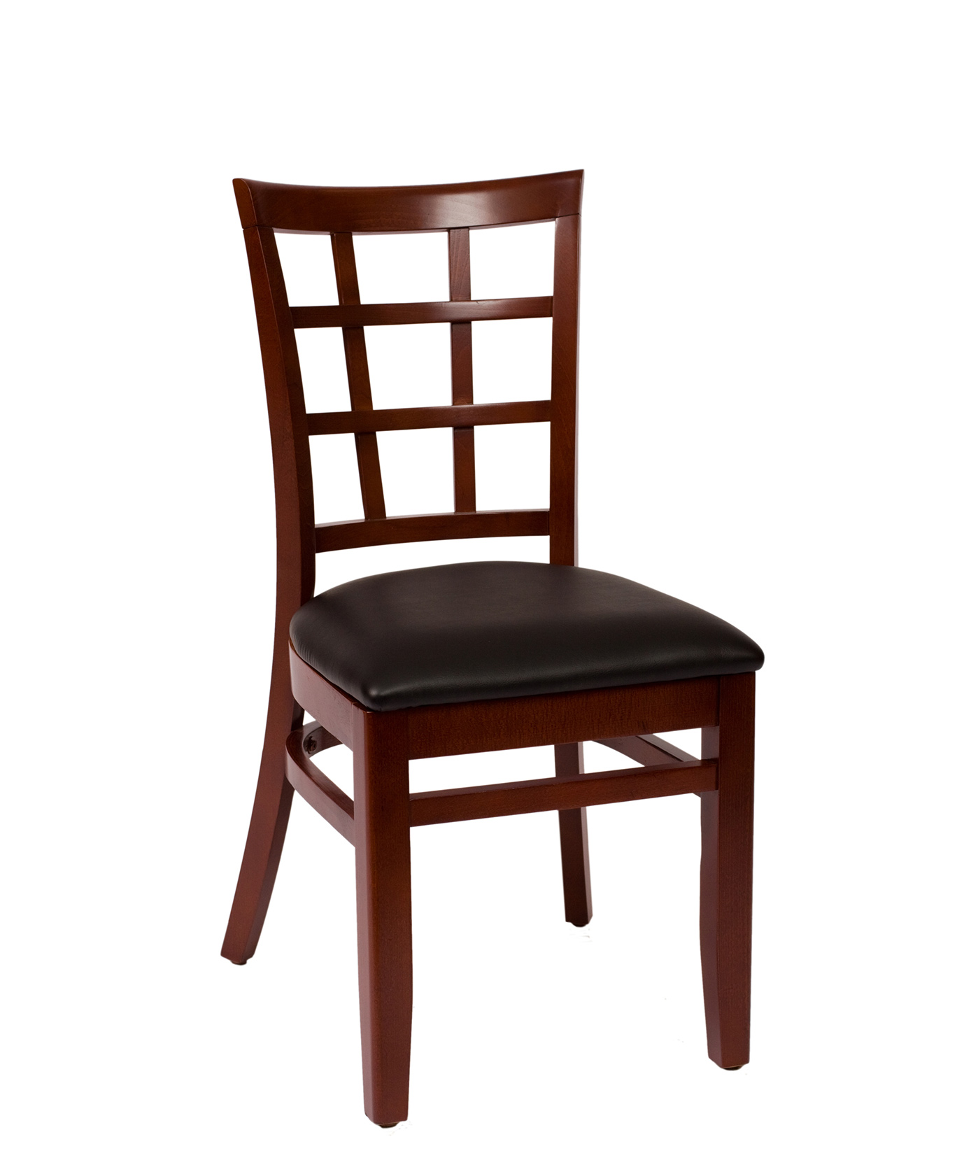 Wood Pane Back Wood Side Chair