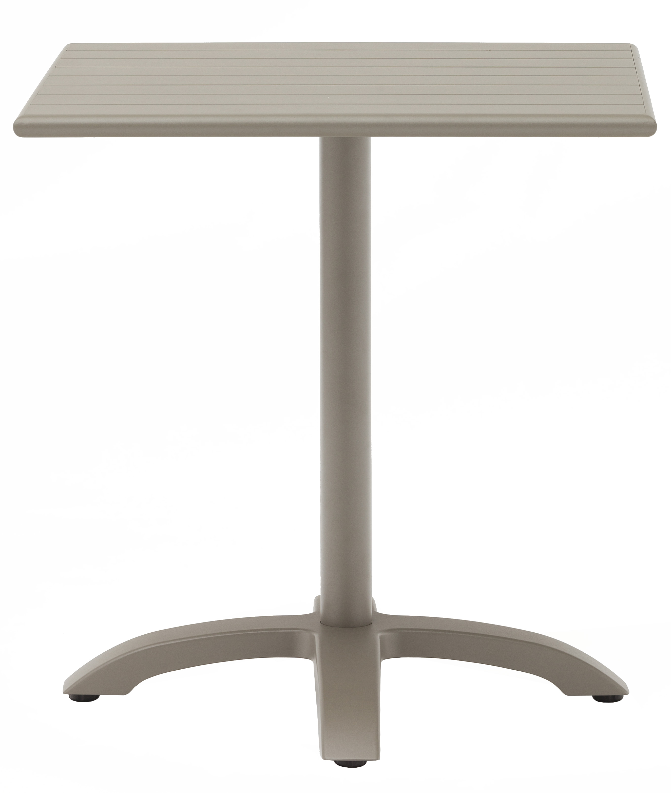 Champagne Finish Square Aluminum Table Picture 1