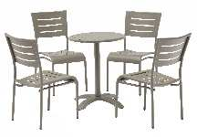 Champagne Finish Round Aluminum Table  Picture 2