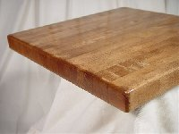 Oak Butcherblock Solid Wood Round Economy Table Top Picture 1