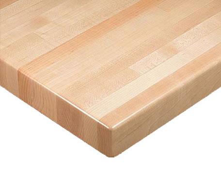 Oak Butcherblock Solid Wood Round Economy Table Top Picture 3