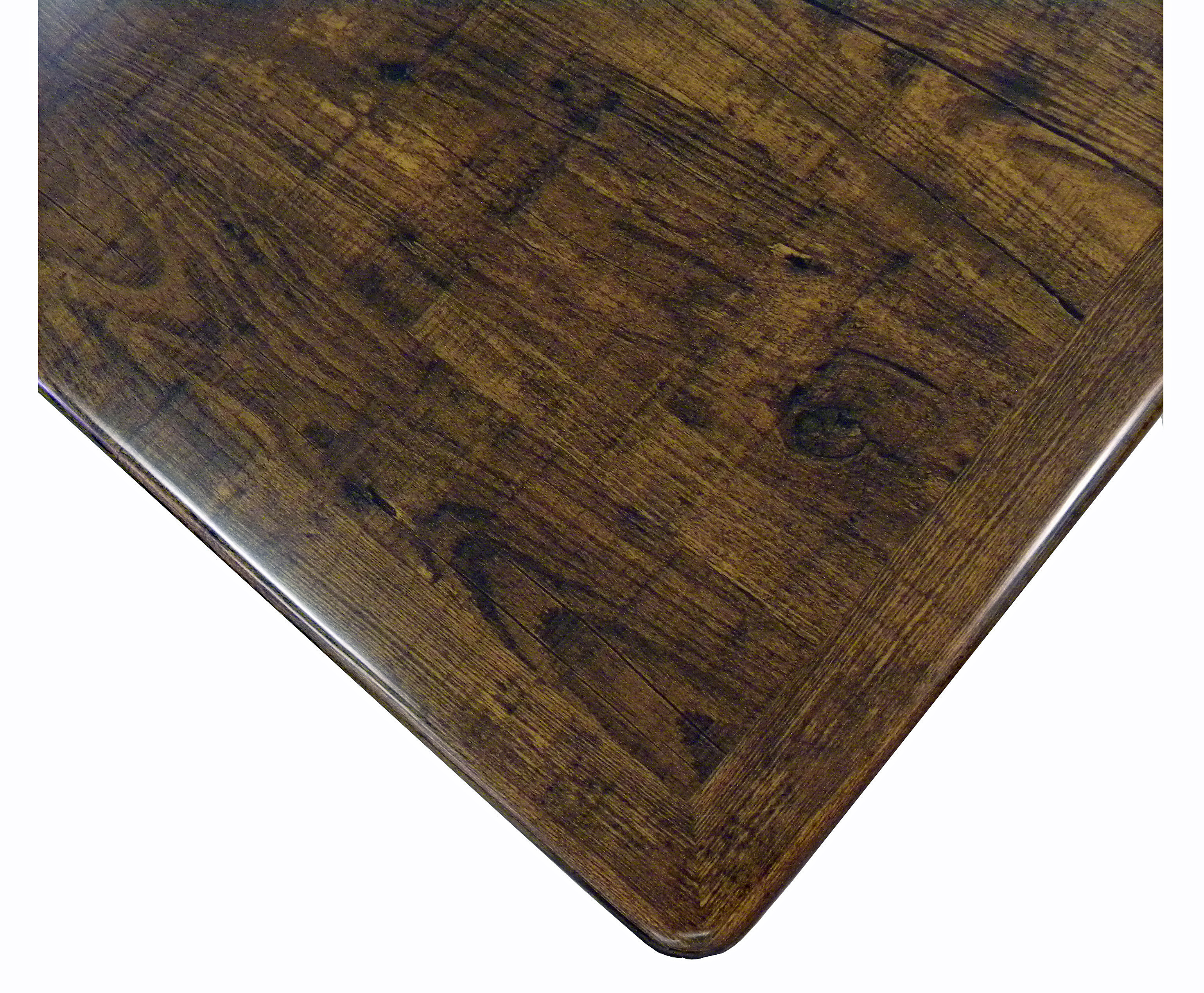 Resin Coated Veneer Square Table Top Picture 2